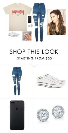 """."" by bittersweetgrande ❤ liked on Polyvore featuring Topshop and Converse"