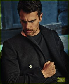 Theo James Feels Like a Different Person From When He Started 'Divergent': Photo Theo James is smokin' hot while posing for the February/March 2016 cover of Essential Homme magazine, now available on global newsstands and online. Theodore James, James 3, Tris Und Four, Divergent Theo James, Divergent Series, Sanditon 2019, Theo Theo, Handsome Boys, Gorgeous Men