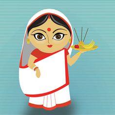 - a bengali wife bangla boubangla bou Madhubani Art, Madhubani Painting, Art Drawings Sketches, Cartoon Drawings, Indian Illustration, Car Illustration, Illustrations, Bengali Art, Indiana