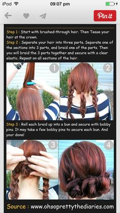 No heat hairstyle. Works on Curly, Wavy, or Straight hair  #braid #noheat #casual #cute