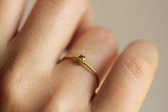 So cute!! Champagne Diamond Ring  Diamond Wedding Ring  Wedding by artemer, $330.00
