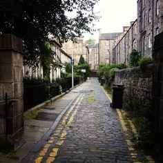 RAEBURN STREET (built in as Hermitage Place) has gatepiers at each end . Scotland Nature, Stockbridge Edinburgh, Castle On The Hill, Stone Street, Beautiful Streets, Edinburgh Scotland, Stirling, Capital City, Glasgow