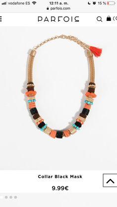 Collar Parfois Black Mask, Beaded Necklace, Jewelry, Fashion, Beaded Collar, Moda, Pearl Necklace, Jewels, Fashion Styles