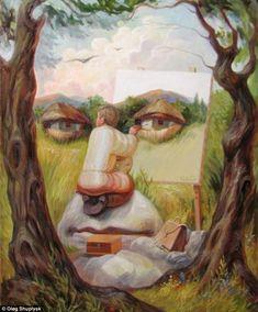 oleg shuplyak illusion painting shuplyak. Read Full article: http://webneel.com/webneel/blog/10-amazing-hand-painting-illusions-ray-massey-and-annie-ralli | more http://webneel.com/paintings . Follow us www.pinterest.com/webneel