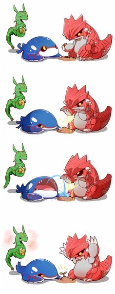 ImageFind images and videos about anime, pokemon and rayquaza on We Heart It - the app to get lost in what you love. Groudon Pokemon, 3d Pokemon, Pokemon Pins, Pokemon Comics, Pokemon Fan Art, Pokemon Fusion, Cool Pokemon, Pokemon Cards, Charizard