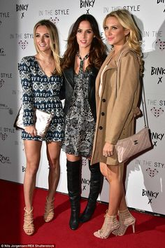 Supporting their friend: Tiffany Watson, Lucy Watson and Stephanie Pratt also made an appearance