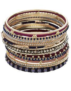 Designer Clothes, Shoes & Bags for Women Bracelet Set, Bangle Bracelets, Bangles, Gems Jewelry, Beaded Jewelry, Jewellery, Bordeaux, Women's Accessories, Shoe Bag
