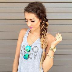 beautiful braid & makeup