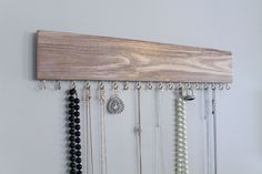 Wooden Jewelry Hanger Made from Reclaimed Pallet Wood by MakingItCo on Etsy