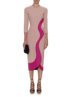 Marsta dress | Roksanda pink Sleeves Designs For Dresses, Sleeve Designs, Color Combinations For Clothes, Church Outfits, Roksanda, Colorblock Dress, Business Fashion, Cute Outfits, Work Outfits