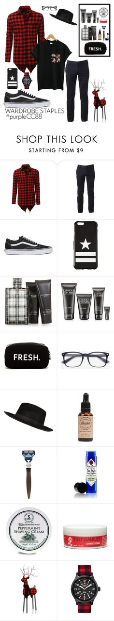 """""""Hipster • Plaid"""" by purplecc88criss ❤ liked on Polyvore featuring LE3NO, Urban Pipeline, Vans, Givenchy, Burberry, Clinique, Original Penguin, River Island, êShave and Jack Black"""