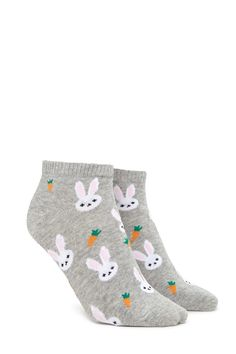Bunny Graphic Ankle Socks