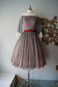 50s Dress / 1950s Party Dress / Vintage 1950s by xtabayvintage, $98.00 - IF ONLY I WAS AN XS!