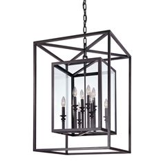 Kate - The dims of this look like they could work in a stairwell - take a look. Morgan Deep Bronze Eight Light Pendant With Clear Glass Lantern Pendant Lighting Ceiling
