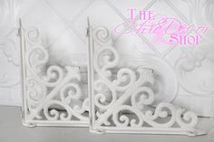 Shelf Bracket / Set of Two / 8x 8 / Cast Iron by TheChicDecorShop, $30.00