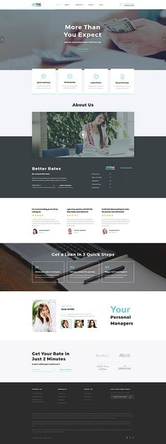 Template 61384 - Fast Credit  Responsive Website Template