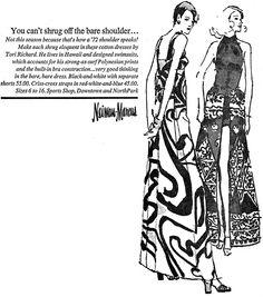 Tori Richard Neiman Marcus ad, 1972.