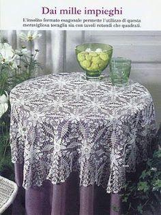 Receitas de Crochet: Toalha rendada