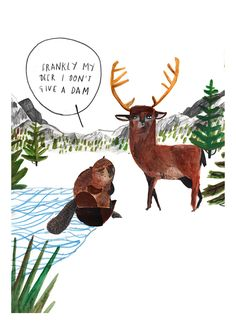 Frankly my Deer by Dick Vincent