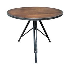 AT Home 60 Wood Metal Folding Table 27X23