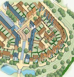 derwenthorpe - Google Search Perspective Sketch, Master Plan, Urban Planning, Urban Design, Landscape Design, Maps, City Photo, Cities, Home And Garden