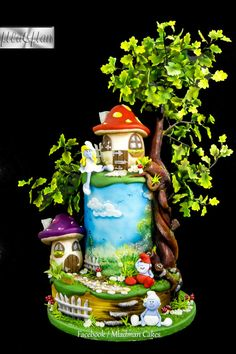 The Smurfs Cake - Cake by MLADMAN