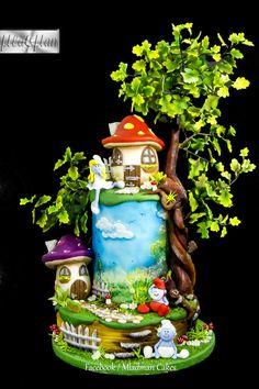 The Smurfs Cake - Cake by MLADMAN