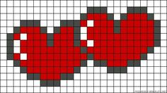 "Hjerte i hjerte [ ""hearts pearler bead pattern for all those whovians out ther. Hjerte i hjerte [ ""hearts pearler bead pattern for all those whovians out ther…- Pearler Bead Patterns, Bead Loom Patterns, Perler Patterns, Pearler Beads, Beading Patterns, Cross Stitch Patterns, Loom Bands, Pixel Art Coeur, Crochet Pixel"