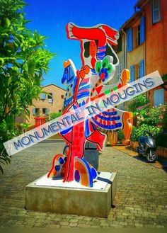 Art in the French Riviera: Les Saltimbanques by Theo Tobiasse to be seen in MONUMENTAL in Mougins till 30 June 2015