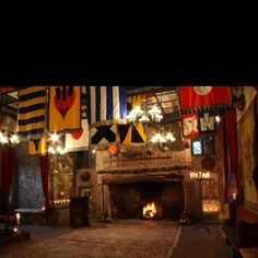 The Great Hall at Comlongon Castle, Scotland.