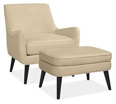 Quinn Chair & Ottoman in View Fabric - Chairs - Living - Room & Board