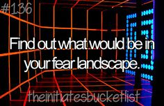 I so want to find out what my true fear landscape is!!! I think anyone in this fandom would.....