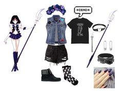 """Punk Sailor Saturn"" by sakura1111 ❤ liked on Polyvore"