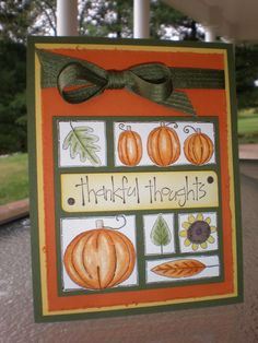 Thankful Thoughts for Autumn~ by stampin'nana - Cards and Paper Crafts at Splitcoaststampers