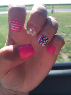 Love these nails! #nails #design #summer