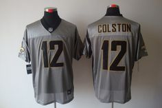 New Orleans Saints  12 Colston Grey Nike NFL Shadow Elite Jersey New  Orleans Saints Jersey 5307b9b05