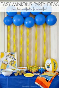 Throw a crazy Minions or Despicable Me party with these Easy Minions Party Ideas! (sponsored)