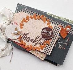 Thankful Mini Album by Danielle Flanders for Papertrey Ink (November 2014)