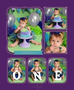 Cake smash, first birthday, peacock, one, one year old, feathers, purple, green, teal, cake, cake stand, headband, tutu, professional, backdrop, 11 sixteen photography, McKenna, necklace, taste, lavender