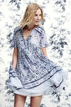 3b6283450e96 Morning Glory Swing Dress #anthropologie Anthropologie Europe, Anthropologie  Dresses, Swing Dress, Dress