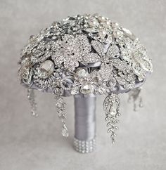 Fulfill a Wedding Tradition with Estate Bridal Jewelry Bling Bouquet, Wedding Brooch Bouquets, Bling Wedding, Crystal Wedding, Wedding Hair, Bridal Hair, Dream Wedding, Bridal Jewelry Sets, Wedding Jewelry