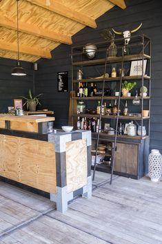 Man Room, Man Cave, Liquor Cabinet, Terrace, Outdoor Living, Kitchen Island, Cozy, Interior, Table