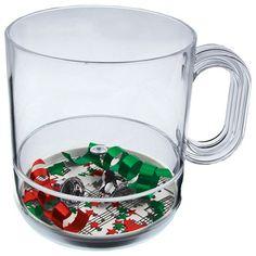 12oz Acrylic Holidays Theme Compartment Coffee Mugs