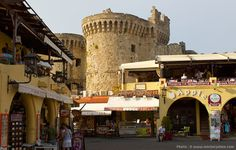 La vieille ville fortifiée de Rhodes, en Grèce.