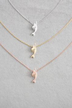 Mermaid charm necklace.