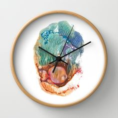 The Gold Fish II Wall Clock by FlowerFairyArt - $30.00
