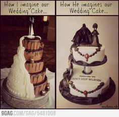 some pretty awesome wedding cakes