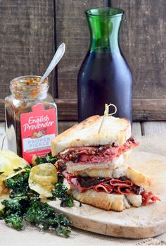 A Proper Pickle and Pastrami Sandwich by Food Blogger My Golden Pear. www.englishprovender.com