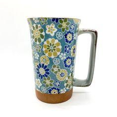 Mug Eckhenkel Dahlia 3,5dl Hana, Flower Power, Bio Tee, Dahlia, Tableware, Kraft Paper, Teacup, Clock, Dinnerware