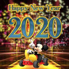 Happy New Year 2020 - Megaport Media Disney Happy New Year, Happy New Years Eve, Happy New Year Images, Happy New Year Greetings, New Year Wishes, Happy New Year 2020, Merry Christmas And Happy New Year, Christmas Greetings, New Year Cartoon